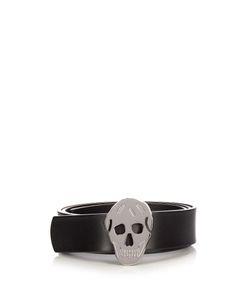 Alexander McQueen | Skull-Buckle Leather Belt