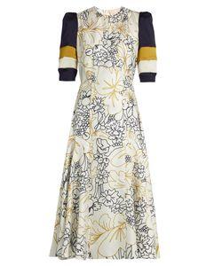 ROKSANDA | Thalia Wood-Flora Print Silk Midi Dress