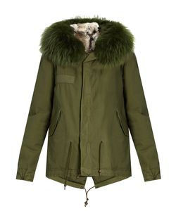 MR & MRS Italy | Fur-Lined Canvas Mini Parka