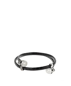 Alexander McQueen | Double Twisted-Leather Bracelet