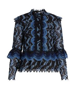 Erdem | Steffi Scallop-Edged Guipure-Lace Blouse