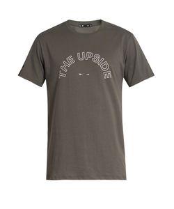 THE UPSIDE   Logo-Print Crew-Neck Cotton T-Shirt