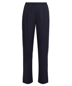 Vince | Wide-Leg Stretch-Satin Trousers