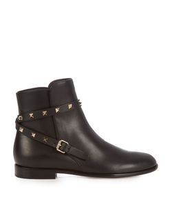 Valentino | Rockstud Leather Ankle Boots