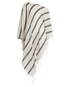 SU | Samana Striped-Cotton Asymmetric Cover-Up