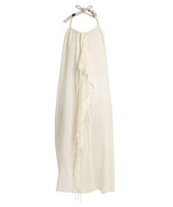 SU | Tina Halterneck Open-Back Midi Dress