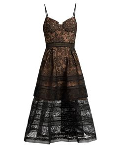 SELF-PORTRAIT | Paisley Lace Midi Dress