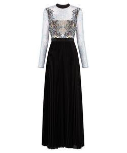 SELF-PORTRAIT | Moni Lace And Pleated-Crepe Maxi Dress