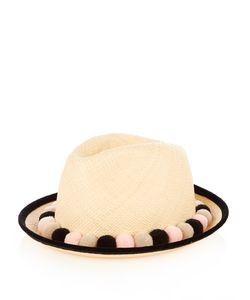 BENOÎT MISSOLIN | Mexico Pompom-Embellished Straw Fedora