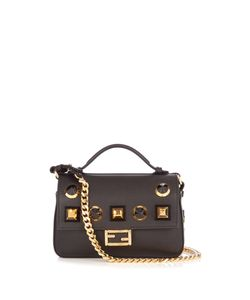 Fendi | Double Micro Baguette Embellished Cross-Body Bag