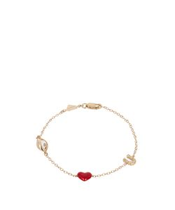 ALISON LOU | Diamond Enamel Eye-Heart-U Bracelet