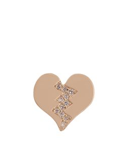 ALISON LOU | Diamond Broken Heart Earring