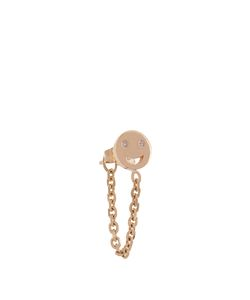 ALISON LOU | Diamond Single Happy-Face Earring
