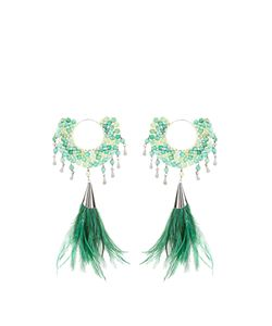 ROSANTICA BY MICHELA PANERO | Faggio Quartz And Feather Earrings