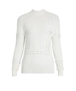 Mary Katrantzou | Hardy High-Neck 3-D Knit Sweater