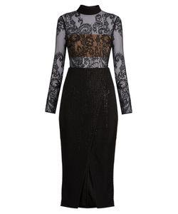 SELF-PORTRAIT | Bead And Sequin-Embellished Midi Dress