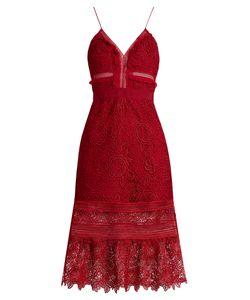 SELF-PORTRAIT | Blush Guipure-Lace Midi Dress
