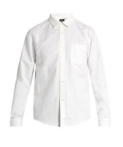 A.P.C.   Milan Linen And Cotton-Blend Shirt