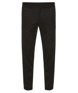 Dolce & Gabbana | Grosgrain-Striped Tuxedo Trousers