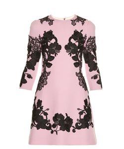 Dolce & Gabbana | Lace-Appliqué Crepe Mini Dress