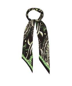 ROCKINS | Prickly Paisley-Print Skinny Silk Scarf