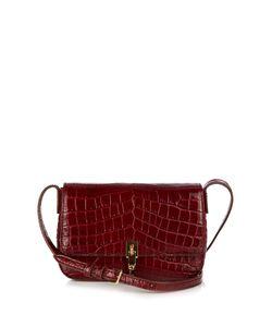Elizabeth And James   Cynnie Crocodile-Effect Leather Cross-Body Bag