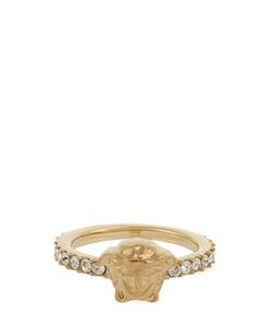 Versace | Medusa Crystal-Embellished Ring