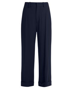 Chloe | Wide-Leg Cady Cropped Trousers