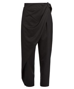 Issey Miyake | Wrap-Side Wool-Twill Trousers