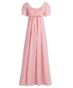 Thierry Colson | Plum Fil Coupé Silk-Gauze Dress
