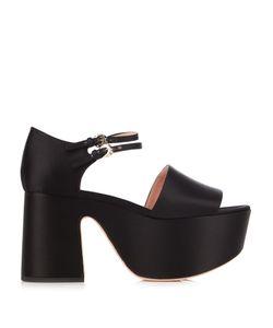 Rochas | Satin Platform Sandals