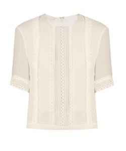 Giambattista Valli | Lace-Panelled Silk-Georgette Blouse