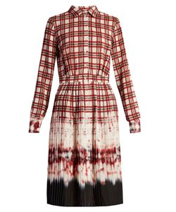 Altuzarra | Maria Tie-Dye And Check-Print Shirtdress