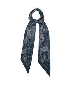 ROCKINS | Skatedelic-Print Classic-Skinny Silk Scarf