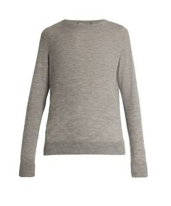 Vince | Distressed Crew-Neck Cashmere Sweater