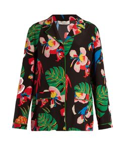 Valentino | Tropical Dream-Print Crepe De Chine Shirt