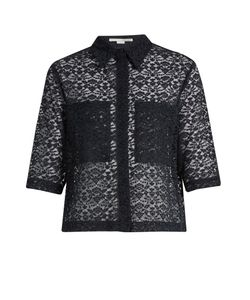 Stella Mccartney | Short-Sleeved Cotton-Blend Lace Shirt