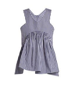 Teija | V-Neck Sleeveless Cotton-Gingham Top