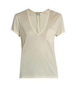 Saint Laurent | Plunging Silk-Jersey T-Shirt