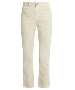 Chloe | Scalloped-Seam Cropped Corduroy Trousers