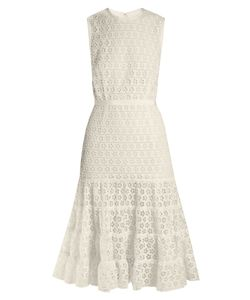 Giambattista Valli | Broderie-Anglaise Cotton-Blend Dress