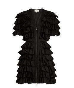 Isa Arfen   Ruffled Cotton-Blend Mini Dress