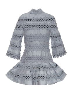 Zimmermann | Havoc High-Neck Lace-Insert Dress