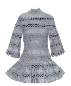 Zimmermann | Havoc High-Neck Lace-Insert Dress