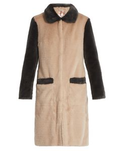 SHRIMPS | Contrast Trim Faux-Fur Coat