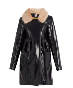 SHRIMPS | Locket Faux Patent-Leather Coat