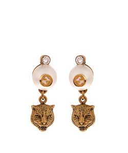 Gucci | Feline Pearl-Effect Drop Earrings