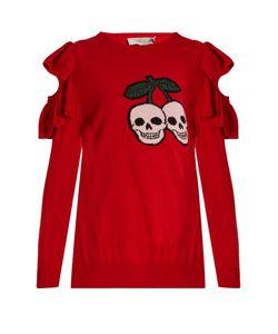 Preen Line | Dina Ruffled Wool-Blend Sweater