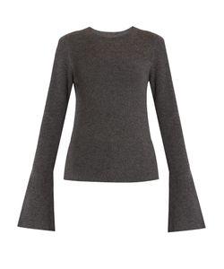 Le Kasha | Boston Fluted-Sleeves Cashmere Sweater