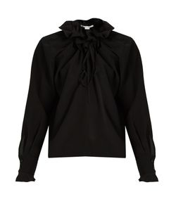 Stella Mccartney | Ruffled Silk-Crepe Blouse
